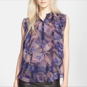 Rebecca Taylor Sonic Garden Silk Blouse size 12
